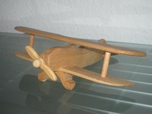 Oldtimer Flugzeug Flieger Jagdflugzeug Kampfflugzeug Doppeldecker HANDARBEIT NEU Holz