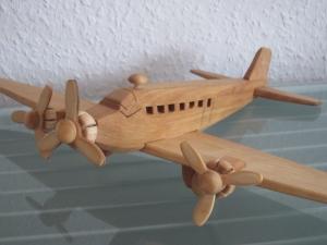 Flugzeug  Flieger Modellflugzeug Oldtimer Passagierflugzeug Modell  groß - Handarbeit kaufen