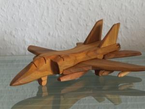 Kampfflugzeug Kampfjet Flugzeug Jet Flieger Jagdflugzeug Jagdbomber Modell Holz Handarbeit - Handarbeit kaufen