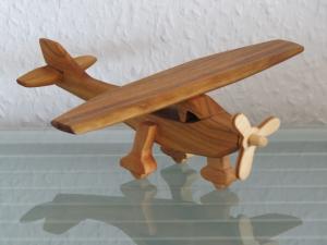 Flugzeug Flieger Kleinflugzeug Sportflugzeug Holz Handarbeit Modell