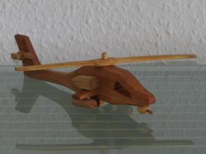 Hubschrauber Helikopter Kampfhubschrauber Modellhubschrauber Modell HANDARBEIT NEU Holz