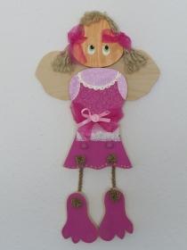 Kindergarderobe Engel Kinder Holz Garderobe 3D Garderobenhaken Kleiderhaken 2 Haken - Handarbeit kaufen