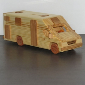 Wohnmobil Reisemobil Teilintegrierter Camper Spardose Camping Wohnwagen Modellauto WOMO