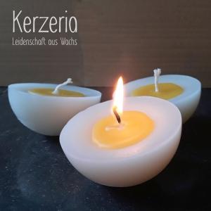 Spiegeleikerzen 3er Set für Wasserschale oder den Kerzenteller