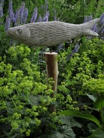 Fisch aus Beton für Garten, Terrasse, Balkon