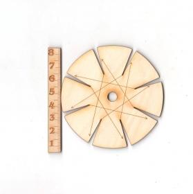 Knüpfstern aus Holz 8 cm für Freundschaftsbänder knüpfen - Handarbeit kaufen