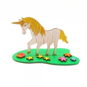 Einhorn Bastelset für Kinder aus Holz Kreativ Set für Kinder Geburtstage unbemalt, mit Sterne - Handarbeit kaufen