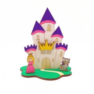 Prinzessin Schloss mit Katze als Geburtstagsset zum Basteln, Kindergeburtstag - Handarbeit kaufen