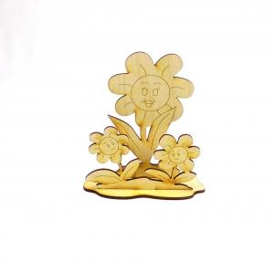 Kindergeburtstag Sonnenblumen Blumenliebhaber,  Kreativset zum bemalen aus Holz - Handarbeit kaufen