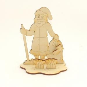 Nikolaus mit Schuh und Päckchen, Bastelset für Weihnachten für Kinder, Weihnachtsdeko gestalten aus Holz - Handarbeit kaufen