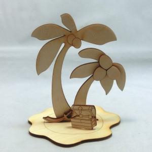 Kinderbastelset aus Holz. Palme mit Kokosnüssen zum Bemalen. - Handarbeit kaufen