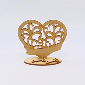 Herz mit Banner und 2 Schlüssel. Bastelset aus Holz zum Bemalen zur Hochzeit, zur Verlobung, zum Valentinstag - Handarbeit kaufen