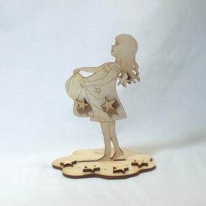 Sterntalermädchen, Bastelset für Weihnachten, Weihnachtsdeko, Sterne, Mädchen, Set aus Holz - Handarbeit kaufen