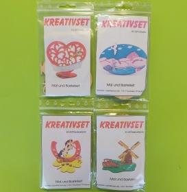 Kreativset 4 verschiedene Sorten zum bemalen für Kinder Herz, Ostsee. PferdHufeisen, Traktor - Handarbeit kaufen