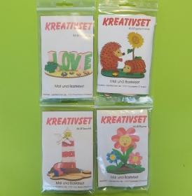 Kreativset 4 verschiedene Sorten zum bemalen für Kinder Love, Igel, Leuchtturm, Blume  - Handarbeit kaufen