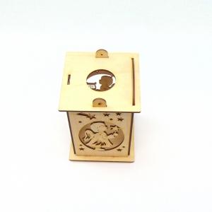 Holz Laterne 3-D Mit Motiven auf allen Seiten Kerze, Buch, Stern, Engel - Handarbeit kaufen