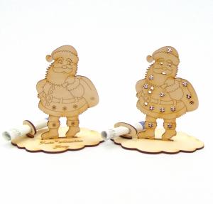 Geldgeschenk zum Nikolaus, zu Weihnachten mit Namensgravur, Personalisierter Weihnachtsmann - Handarbeit kaufen