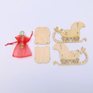 Weihnachtsschlitten 3D Bausatz aus Holz als Geldgeschenk für Weihnachten - Handarbeit kaufen
