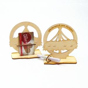 Geschenk zum Richtfest, Richtkrone aus Holz, Geld und Gutschein Geschenk zum Hausbau - Handarbeit kaufen