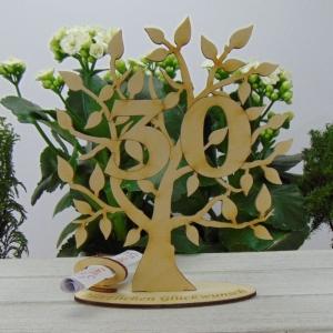 Lebensbaum aus Holz 30. Geburtstag,  mit Gravur Geldgeschenk Gutscheingeschenk 30. Jubiläum - Handarbeit kaufen