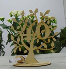 Lebensbaum aus Holz 40. Geburtstag,  mit Gravur Geldgeschenk Gutscheingeschenk - Handarbeit kaufen
