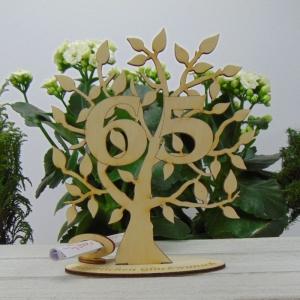 Lebensbaum aus Holz 65. Geburtstag,  mit Gravur Geldgeschenk Gutscheingeschenk - Handarbeit kaufen