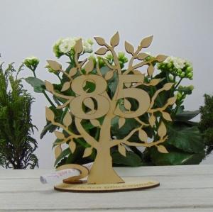 Lebensbaum aus Holz 85. Geburtstag,  mit Gravur Geldgeschenk Gutscheingeschenk - Handarbeit kaufen