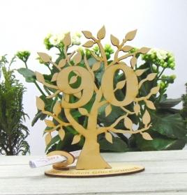 Lebensbaum aus Holz 90. Geburtstag,  mit Gravur Geldgeschenk Gutscheingeschenk - Handarbeit kaufen