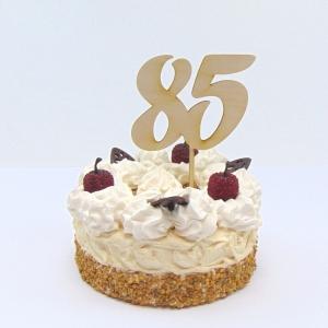 Tortenstecker ♥  Zahl 85 ♥  zum Geburtstag oder Jubiläum aus Holz, Torten Topper  - Handarbeit kaufen