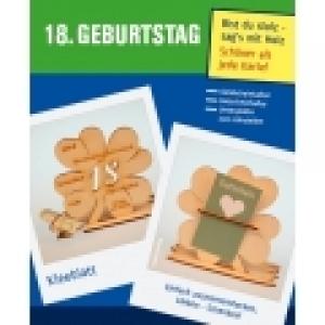 Geldgeschenk oder Gutschein zum 18. Geburtstag Kleeblatt Tischdeko aus Holz mit Gravur (Kopie id: 100218988) - Handarbeit kaufen