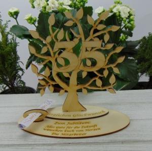 Zum 35. Geburtstag,  Personalisiertes Geldgeschenk Gutschein Geschenk oder als Tischdeko  aus Birkenholz Jubiläum - Handarbeit kaufen