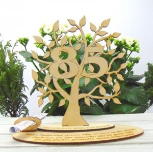Zum 85. Geburtstag Geburtstagsdekoration ★ mit Personalisierung  Lebensbaum als Geldgeschenk oder Gutschein ★ zum Verschenken oder selbst dekorieren - Handarbeit kaufen