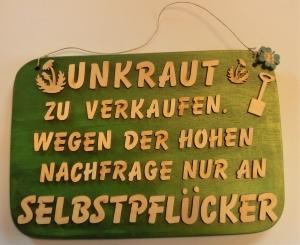 Spruch aus Holz  ★ Unkraut zu verkaufen... ★ Geschenk für jeden Gartenfreund, Geburtstagsgeschenk - Handarbeit kaufen