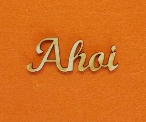 Schriftzug ★ Ahoi ★ Wandgestaltung durch Schriftzug mit Vollholz, Wanddekoration - Handarbeit kaufen