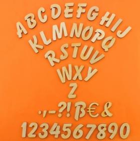 Großbuchstabe, Zeichen und Zahl aus Naturholz ★ 21 mm ★  zum basteln und kreativen gestalten  - Handarbeit kaufen