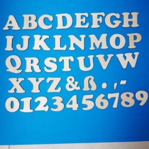 Großbuchstabe, Zeichen und Zahl aus Naturholz ★5 cm ★ Schriftart Cooper Black  zum basteln und kreativen gestalten  - Handarbeit kaufen
