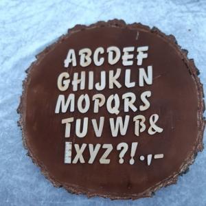 Großbuchstabe, Zahl und Zeichen aus Naturholz ★ 30 mm ★ Druckschrift  zum basteln und kreativen gestalten     - Handarbeit kaufen