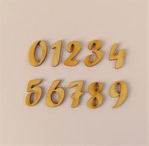 Zahl aus Naturholz ★21 mm ★ Schriftart Forte  zum basteln und kreativen gestalten  - Handarbeit kaufen