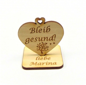 Bleib gesund ♥ kleine Aufmerksamkeit ♥ Geschenk für Freunde, Familie, Personalisiert, mit Herzbaum - Handarbeit kaufen