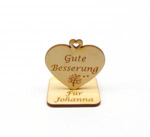 Gute Besserung ♥ kleine Aufmerksamkeit ♥ Geschenk für Freunde, Familie, Personalisiert, mit Herzbaum  - Handarbeit kaufen