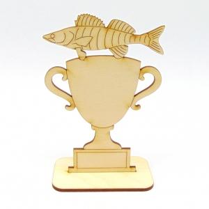 Pokal Wettbewerb Fisch Zander Personalisiert Logo Angler Angeln fischen Stippen - Handarbeit kaufen