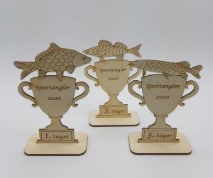 Pokal Wettbewerb Fisch Karpfen Personalisiert Logo Angler Angeln fischen Stippen Ruhestand - Handarbeit kaufen