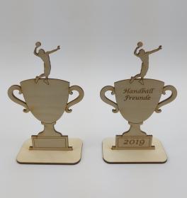 Pokal Wettbewerb Handball Personalisiert Logo Wettkampf Meisterschaft Turnier - Handarbeit kaufen
