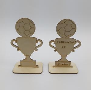 Pokal Wettbewerb Fußball Personalisiert Wettkampf Meisterschaft Turnier Training - Handarbeit kaufen