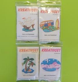 Kreativset 4 verschiedene Sorten zum bemalen für Kinder Dreimaster,Reisebus,Surfbrett, Palme, Ostsee - Handarbeit kaufen