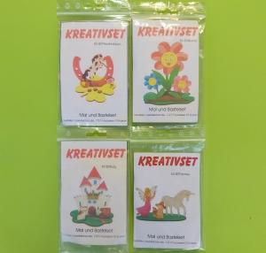 Kreativset 4 verschiedene Sorten zum bemalen für Kinder Pferd Hufeisen, Blume, Burg, Fantasy - Handarbeit kaufen