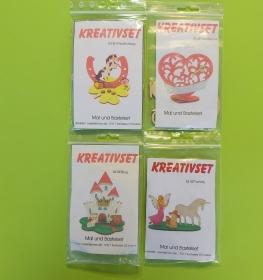 Kreativset 4 verschiedene Sorten zum bemalen für Kinder Pferd Hufeisen, Herz, Burg, Fantasy - Handarbeit kaufen