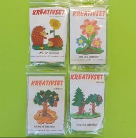 Kreativset 4 verschiedene Sorten zum bemalen für Kinder Igel, Blume, Baum, Wald - Handarbeit kaufen