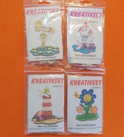 Kreativset 4 verschiedene Sorten zum bemalen für Kinder Sterntaler, Burg Katze, Leuchtturm, Blume Schmetterling - Handarbeit kaufen