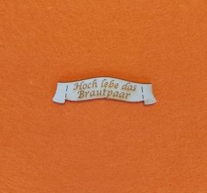Schriftzug ★ Hoch lebe das Brautpaar ★ Schriftzug für Hochzeitsgeschenke, Hochzeit, Schriftzug für Geschenke - Handarbeit kaufen